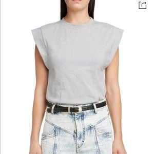 ISABEL MARANT Back Cutout Muscle Tee In Gr…